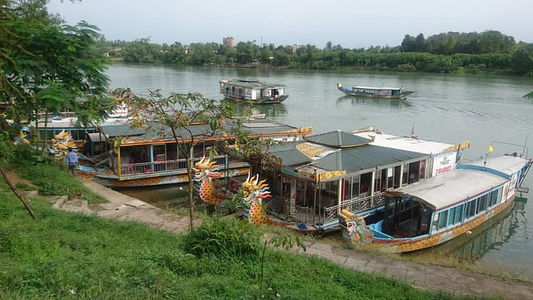 Song Huong or the 'Perfume River', flows though the city of Hue