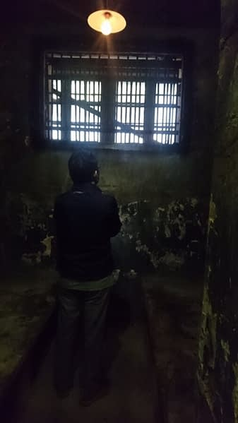 One of the cells in the 'Maison Central', a prison built by the French invaders in the late 1800s and later used by the Vietnamese to hold American prisoners of war and famously named the 'Hanoi Hilton'