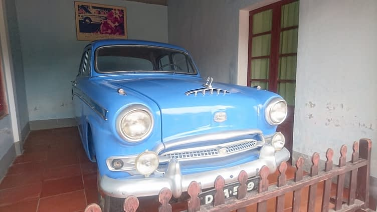 In the grounds of the temple adjacent to The Pagoda of the Celestial Lady is a memorial to the buddhist monk; Quang Duc, who immolated himself in Saigon in 1963. This is the car he travelled in and which appears behind him in the extraordinary photos of his protest suicide