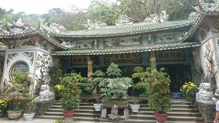 One of the temples on the Marble Mountains