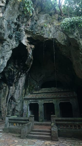 The Marble Mountains are riddled with caves with temples inside them carved from the mountains