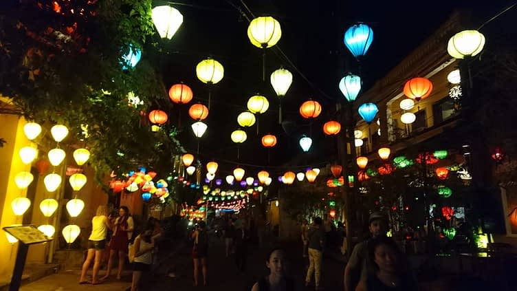 They do like their lanterns in Hoi An, at night the whole town is lit up like a Christmas tree