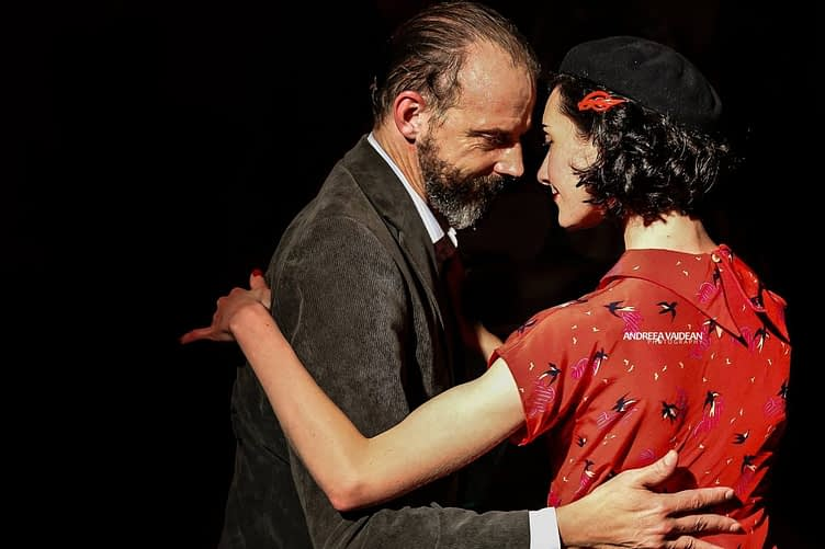 Dancing Argentine tango with Rosie at Negracha – photo by Andreea Vaidean