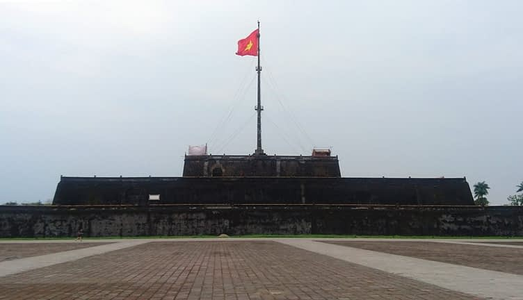 The Flag Tower in front of the Imperial City at Hue
