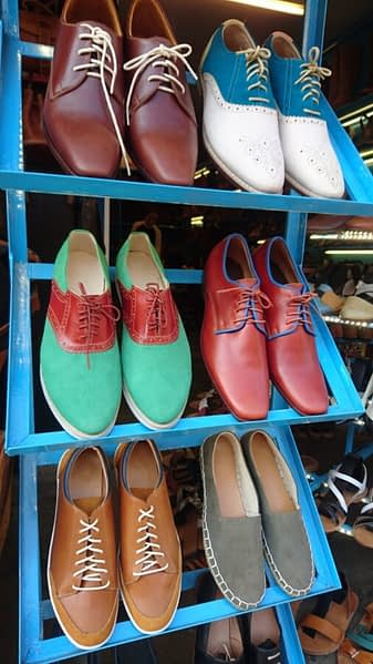 Leather goods aplenty! If you are in the market for new shoes, pack light