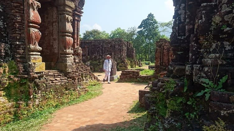 The temple ruins feel like a movie set