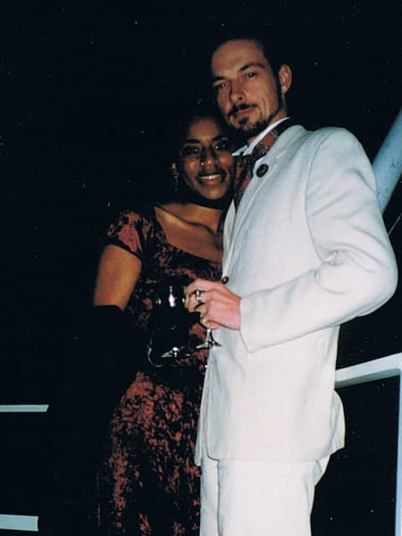 After dinner aboard the New Orleans Steamboat Company paddle boat with beautiful Brenny. New Orleans, 1998