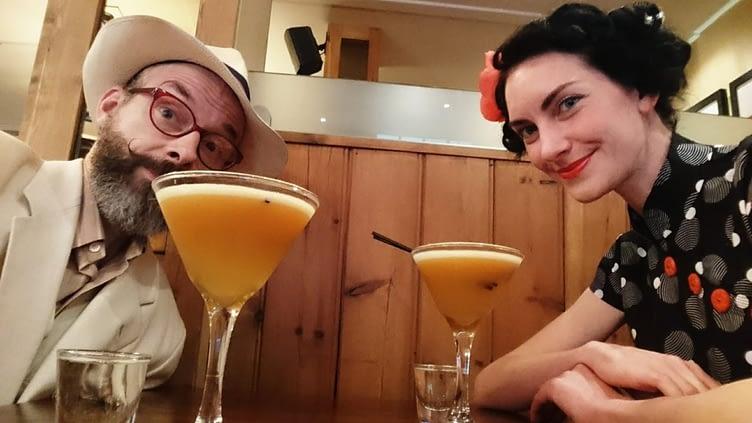 Pre-milonga Porn Star martinis with Rosie at Jamies Bar