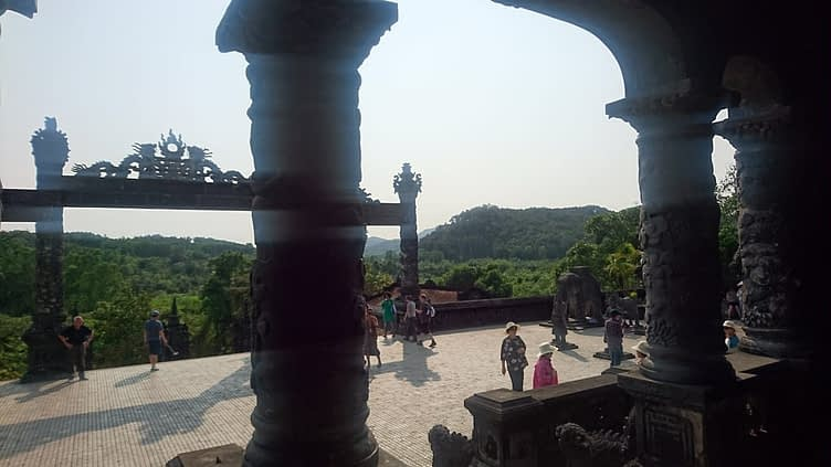 The Tomb of Khai Dinh sits on of Chau Chu Mountain, not far from Hue