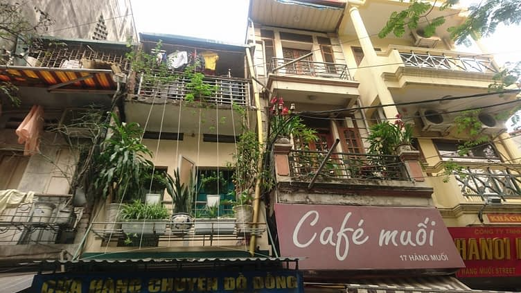Hanoi is a hectic, chaotic mixture of architecture and seemingly lacking in building regulations...