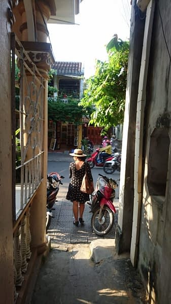 Whenever you enter one of these little alleyways in Vietnam, no matter how mysterious, you can guarantee there'll be scooters at the other end...