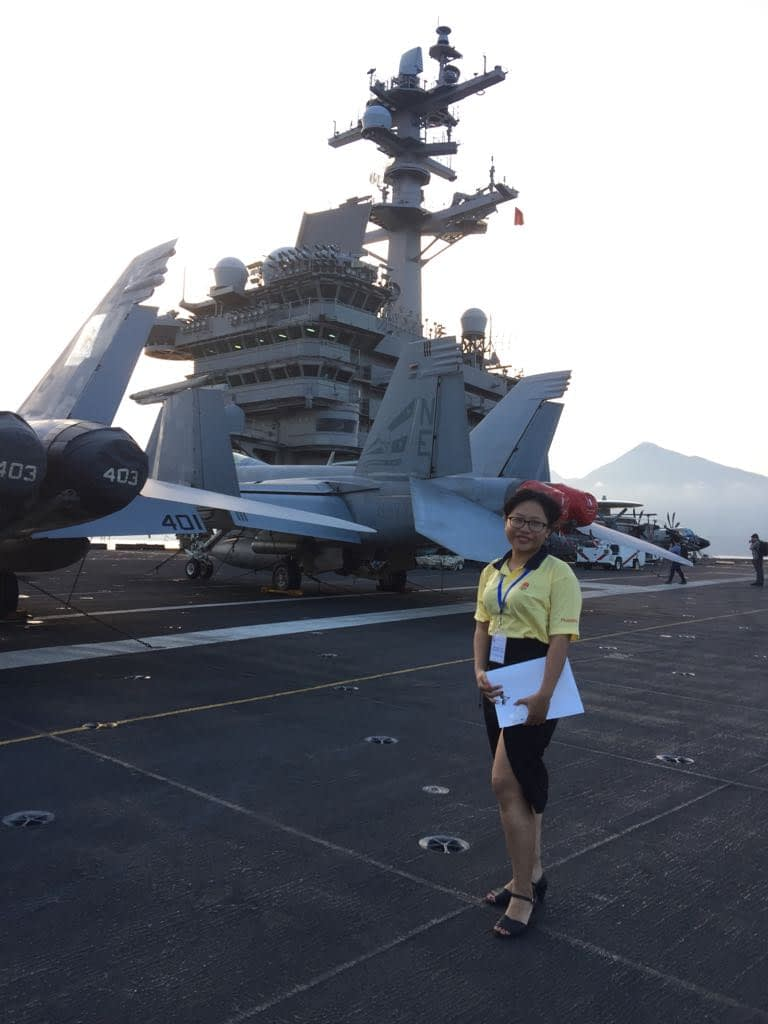 Ti aboard the USS Carl Vinson translating for the US Navy