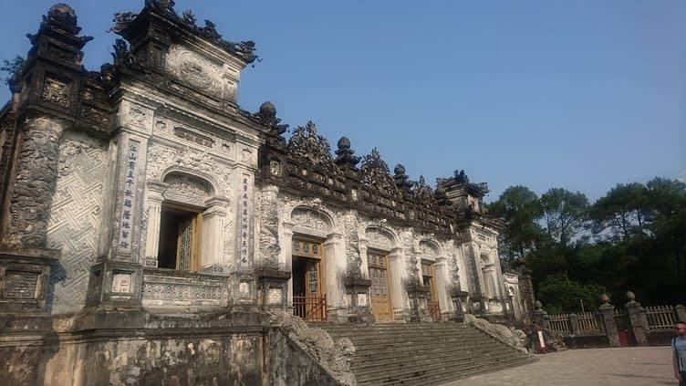 The Tomb of Khai Dinh is like a mini Versailles with dragons