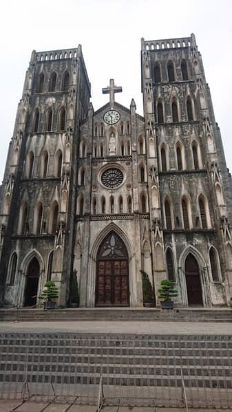 St Joseph's Cathedral is on Nha Tho Street in the Hoàn Kiếm District of Hanoi. A late 19th-century Gothic Revival church that looks like a party-size Notre Damn and is an obvious link to France's imperial intervention
