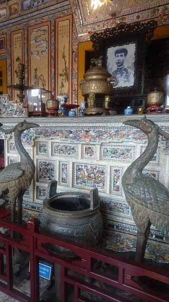 Khai Dinh's altar is in the tradition of ancestor worship