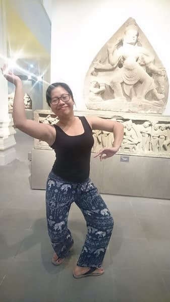 Ti is proud of her Cham heritage. Her features show she is of the ancient, southern dynasty. And she's got the moves too