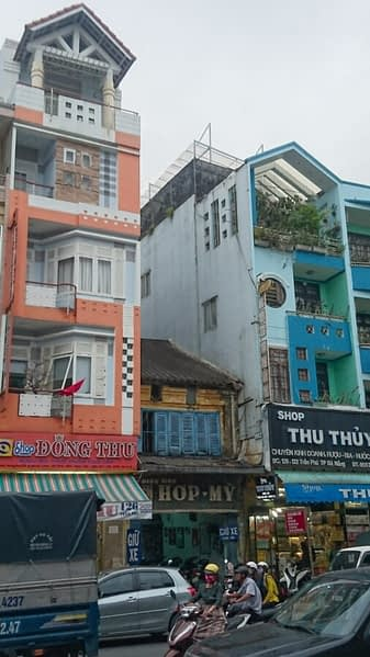 The architecture in Vietnam is a chaotic mixture of ancient Asian, colonial European and contemporary toy town